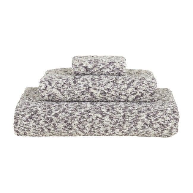 Space Dye Terry Hand Towel, Light Grey