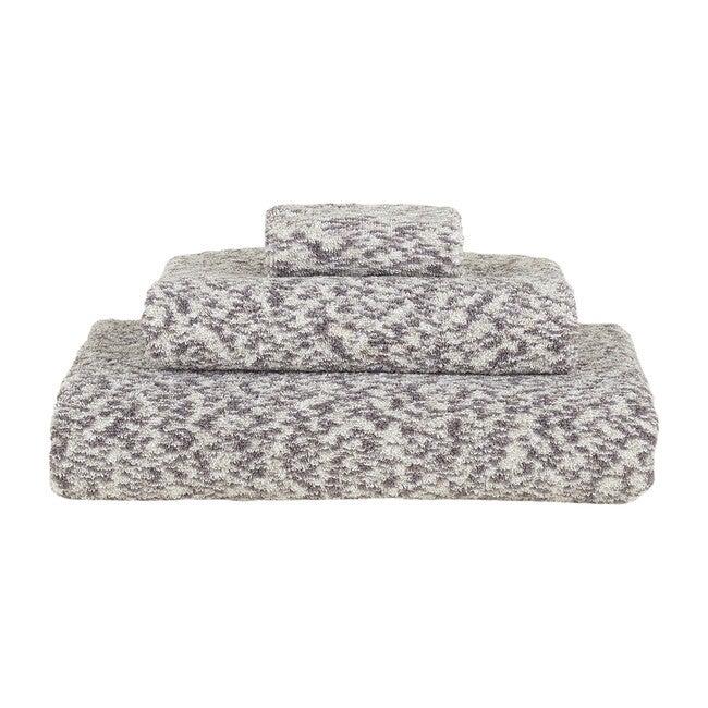 Space Dye Terry Bath Towel, Light Grey