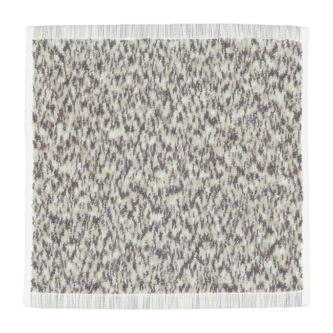 Space Dye Terry Washcloth, Light Grey