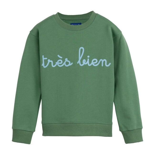 Tres Bien Sweatshirt, Deep Sage
