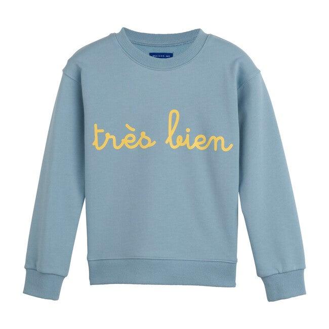 Tres Bien Sweatshirt, Sky Blue