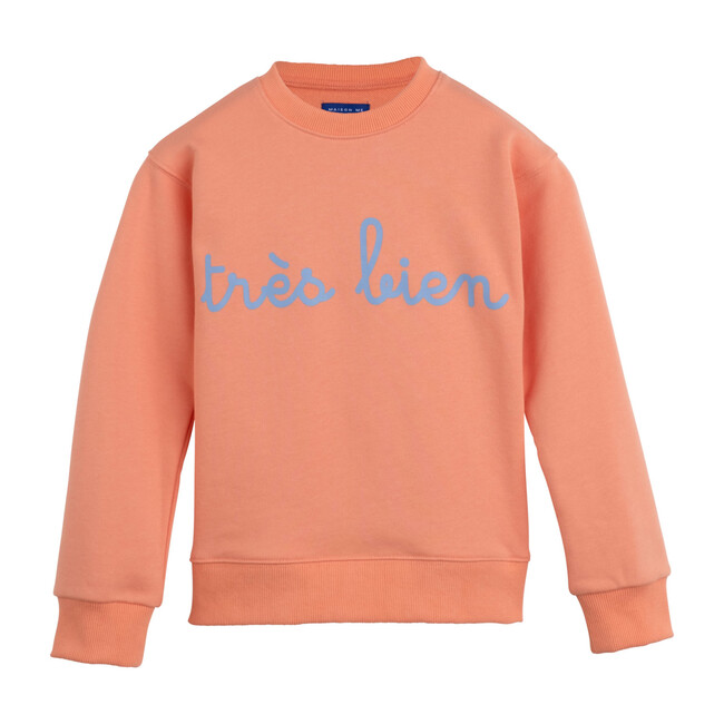 Tres Bien Sweatshirt, Vibrant Peach