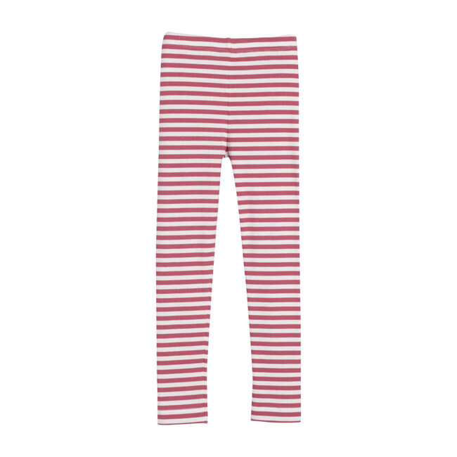 Reese Ribbed Legging, Darker Dusty Rose Stripe