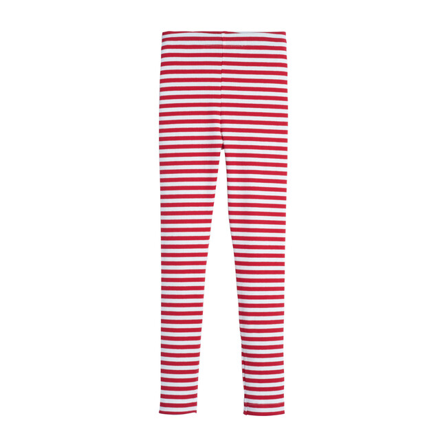 Reese Ribbed Legging, Red Stripe