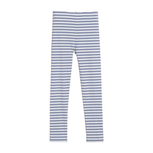 Reese Ribbed Legging, Dusty Blue Stripe