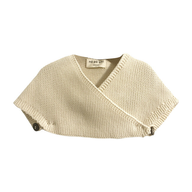 Lucia Knit Cape, Cotton Cream