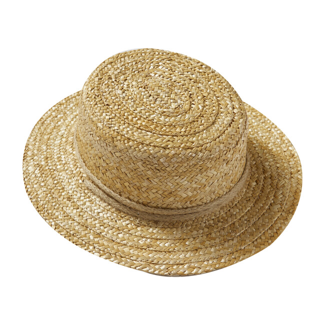Women's Canotier Hat, Straw