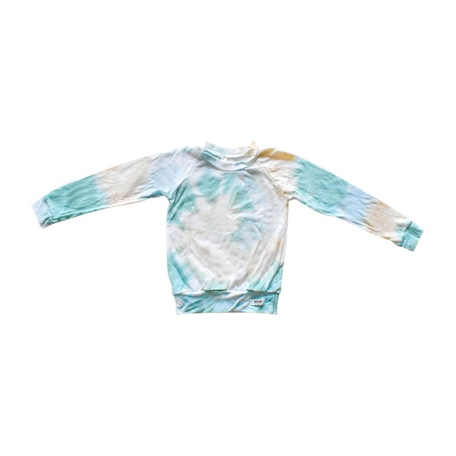 Kids Raglan Tee, Sea & Ivory