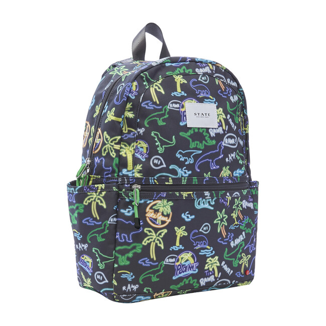 Kane Kids Backpack, Neon Dino