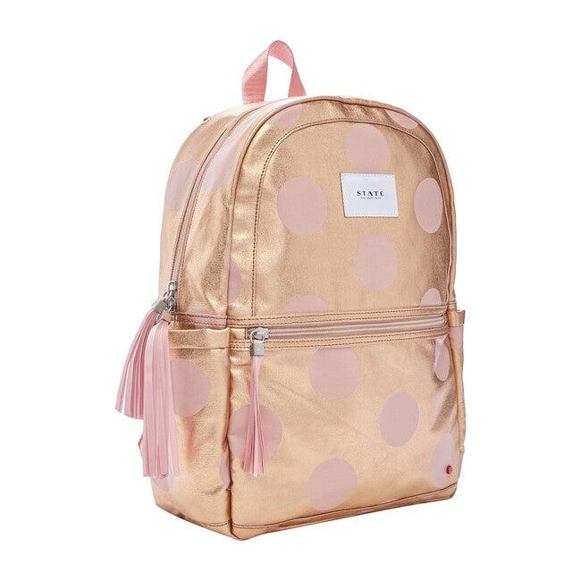 Kane Kids Backpack, Rose Gold Dots