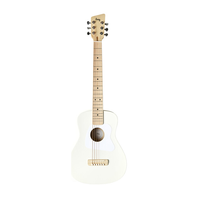 White Pro 6-String Acoustic Guitar