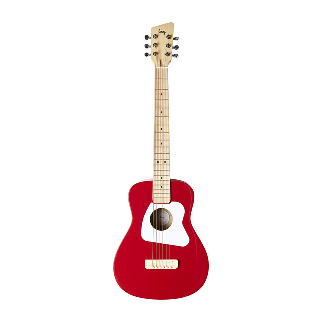 Red Pro 6-String Acoustic Guitar