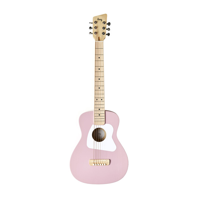 Pink Pro 6-String Acoustic Guitar - Musical - 1