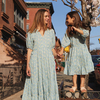 Heidi Tiered Dress, Blue Brushstroke Flowers - Dresses - 6