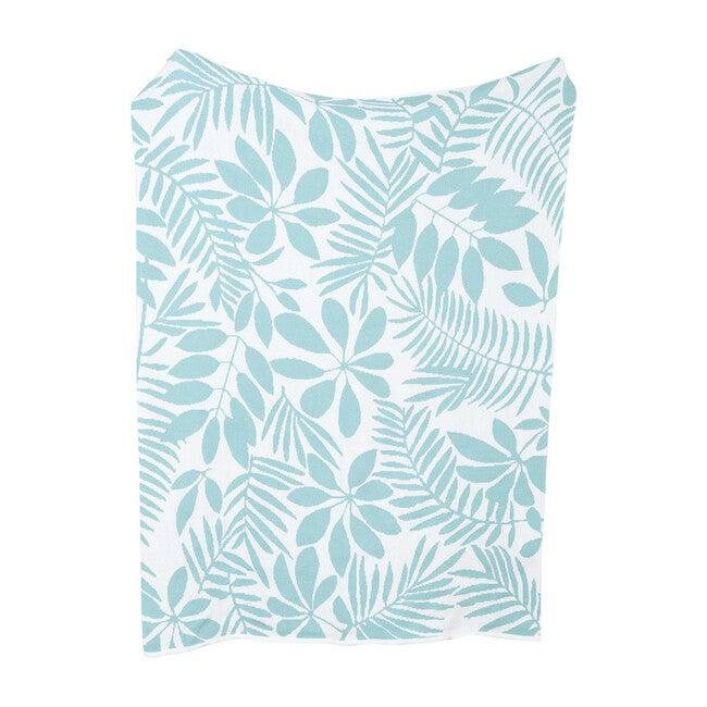 Eco Poly Flora Throw, Mint/White