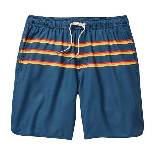 Men's Anchor Swim Trunk, Rainbow 3 Stripe