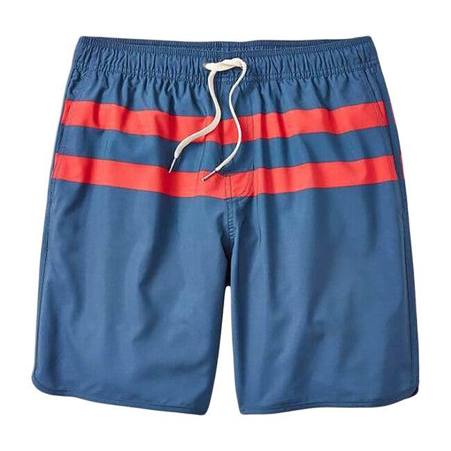 Men's Anchor Swim Trunk, Red Stripe