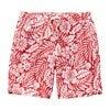 Kid's Anchor Swim Trunk, Red Hawaiian - Swim Trunks - 1 - thumbnail
