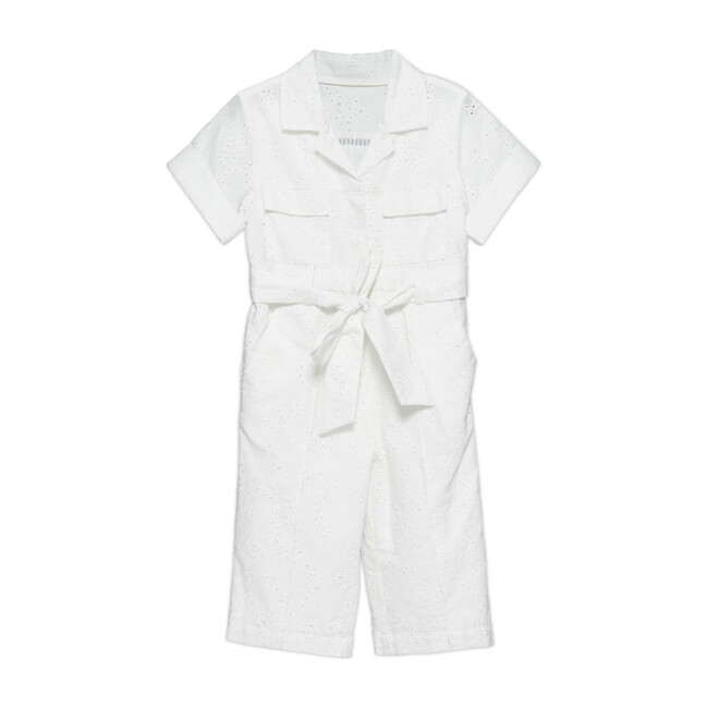 Karrie Belted Jumpsuit, White