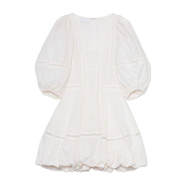 Women's Brynn Puff Sleeve Mini Dress, White