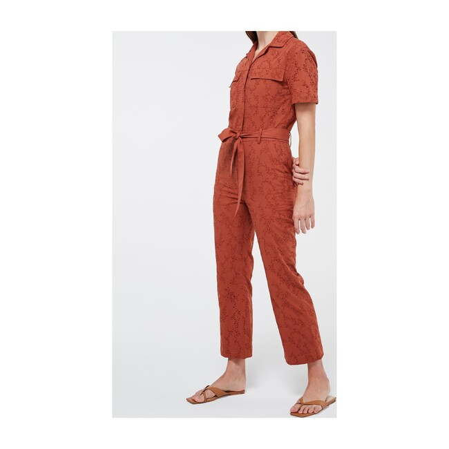 Women's Quincy Belted Jumpsuit, Cayenne