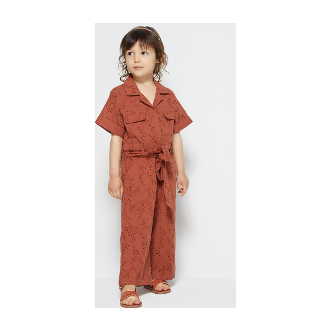 Karrie Belted Jumpsuit, Cayenne