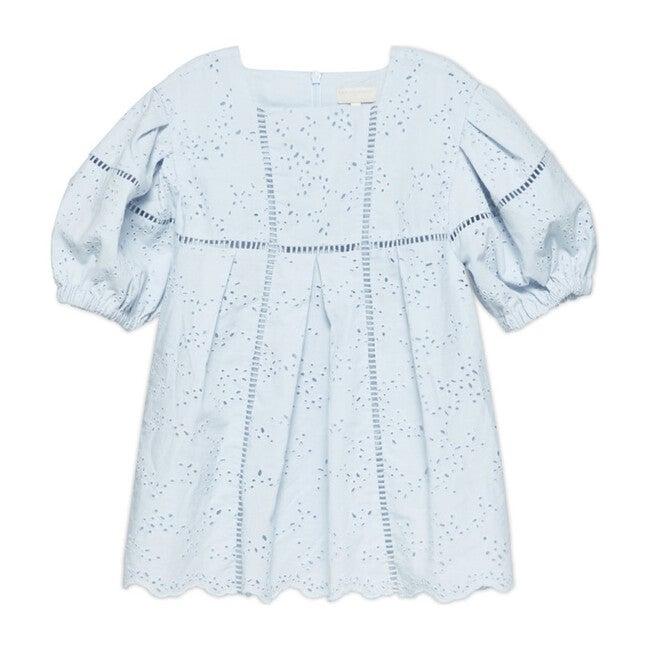 Zabelle Puff Sleeve Midi Dress, Sky