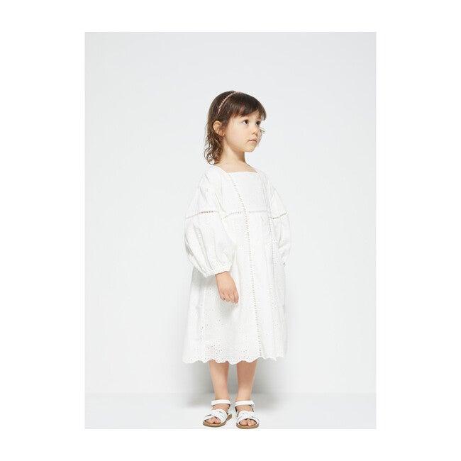 Zabelle Puff Sleeve Midi Dress, White