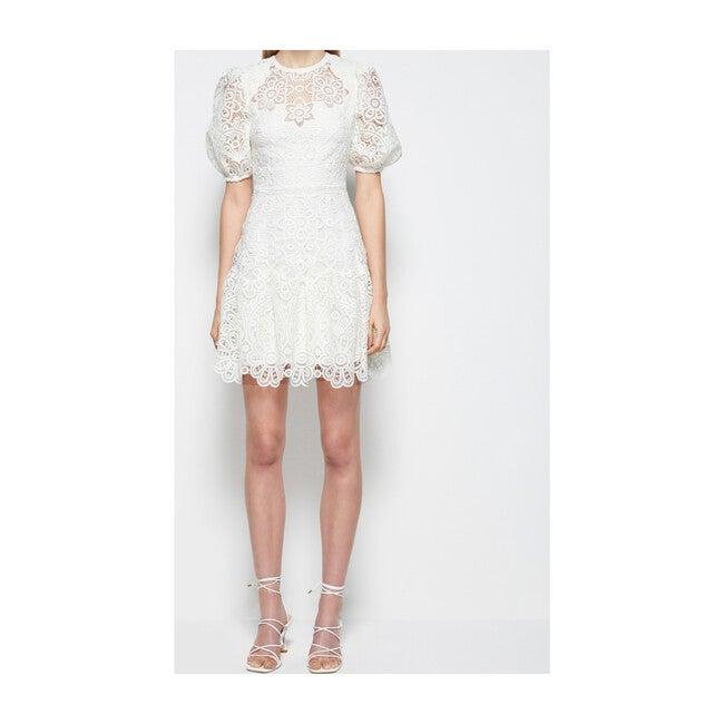 Women's Giada Crochet Guipure Mini Dress, White
