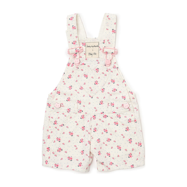 x Nicky Hilton Ditsy Short Overalls, Floral