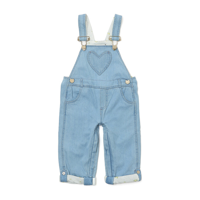 x Nicky Hilton Heart Long Dungarees, Denim