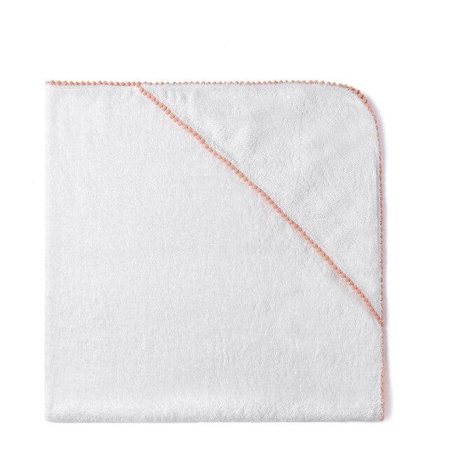 Bamboo Pom Pom Towel, Peach