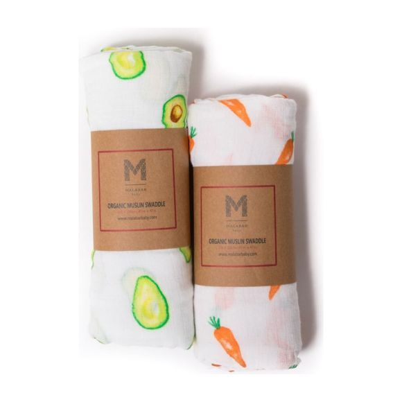 Organic Muslin Swaddle Gift Set, First Foods
