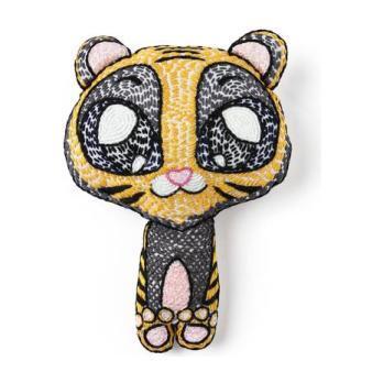 Handmade Kantha Stitched Bedtime Buddy, Tara the Tiger