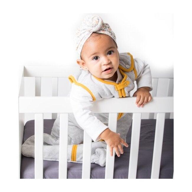Block-Printed Cotton Fitted Crib Sheet, Erawan