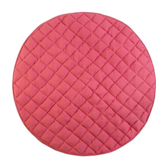 Washable Brush-Stroked Play Mat, Rose