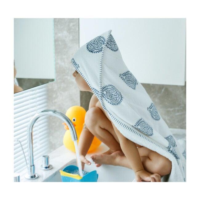Block-Printed Terry Towel, Fort
