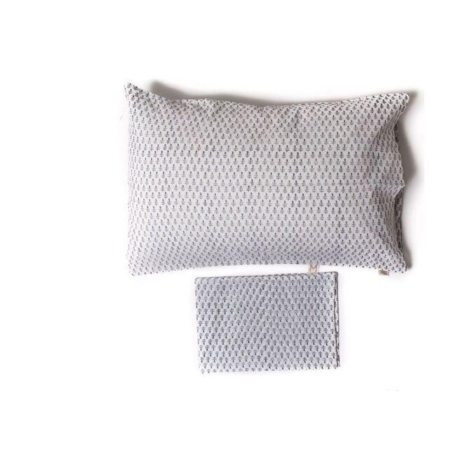 Set of 2 Block-Printed Pillowcases, Fort