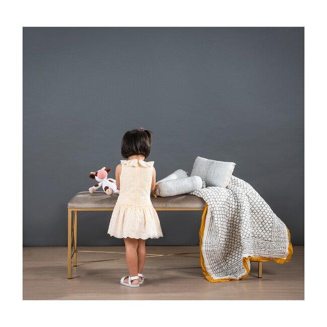 Block-Printed Cotton Crib Quilt, Erawan