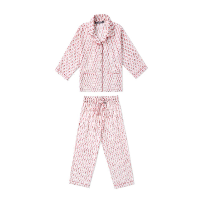 Block-Printed Loungewear Gift Set, Pink City