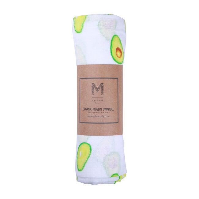 Organic Cotton Muslin Swaddle, Avocado
