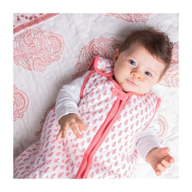 Block-Printed Lightweight Sleep Bag, Pink City