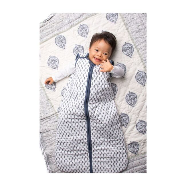 Block-Printed Winter Weight Sleep Bag, Fort