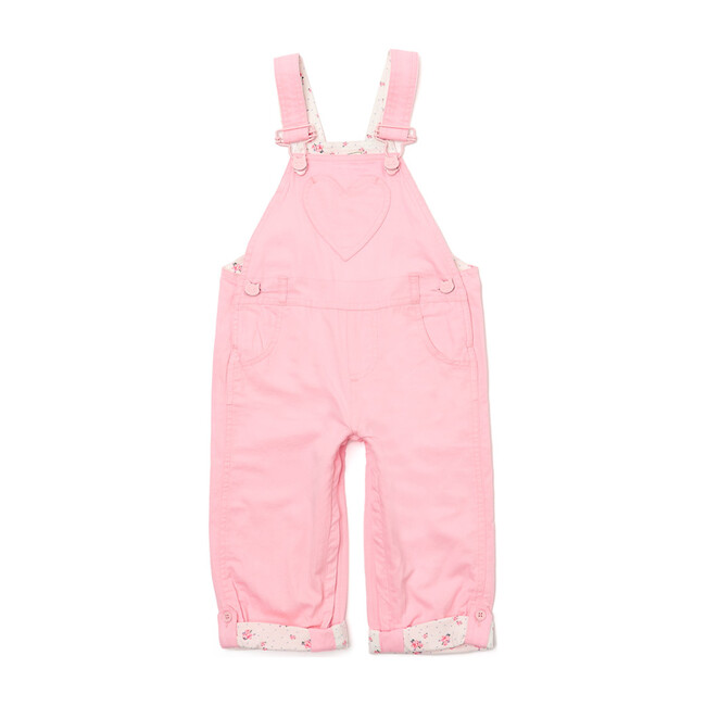 x Nicky Hilton Heart Pocket Long Dungarees, Pink