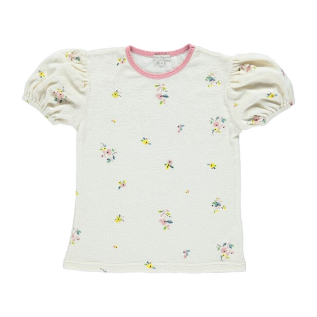 Bea Pouf Tee Natural Flowers