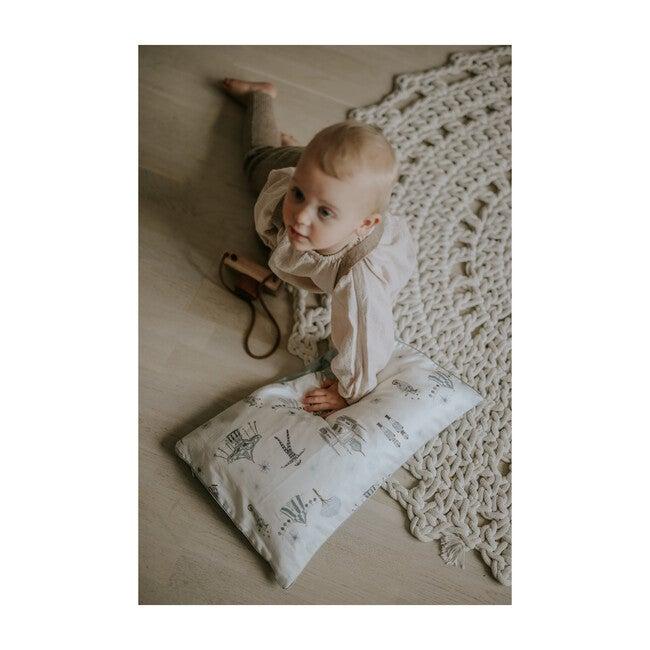 Adventures in Wonderland Toddler Pillow, Aqua