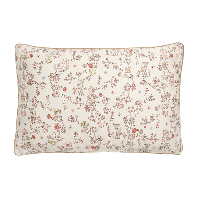Into The Woodlands Toddler Pillow, Ivory/Rose Multi