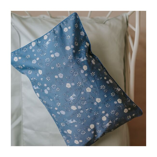 Into The Woodlands Toddler Pillow, Blue