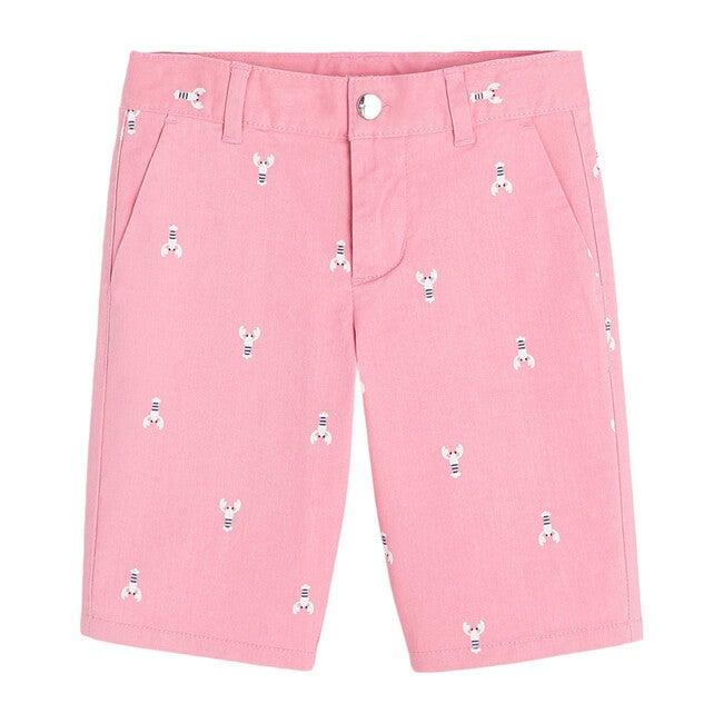 Lobster Pattern Bermuda Short, Pink Blush