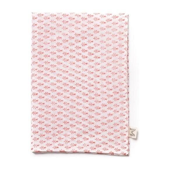 Set of 2 Block-Printed Pillowcases, Pink City